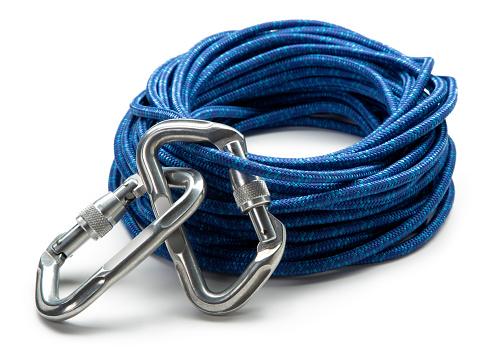 クライミング「Carabiner クリップやクライミングロープを白で分離」:スマホ壁紙(0)