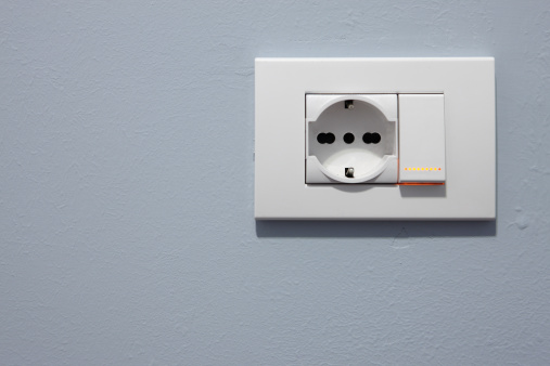 Light Switch「Plug socket and Light Switch on wall, close-up」:スマホ壁紙(5)