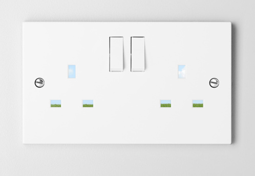 Light Switch「Plug sockets with landscape through holes.」:スマホ壁紙(8)