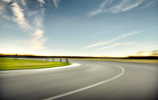 Motor Racing Track「Sun Set Race Track Corner 2」:スマホ壁紙(10)