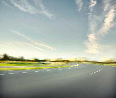 Motor Racing Track「Sun Set Race Track Corner」:スマホ壁紙(18)