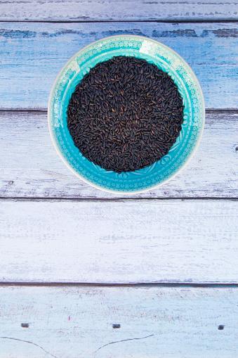 Basmati Rice「Black organic basmati rice in bowl」:スマホ壁紙(4)