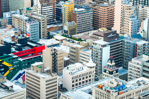 Patriotism「Central Johannesburg cityscape from the top of the Carlton Centre, Johannesburg, South Africa」:スマホ壁紙(17)