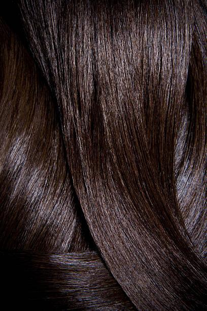 Tight crop of shiny dark brown hair.:スマホ壁紙(壁紙.com)