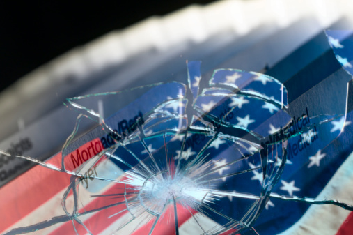 Audit「Broken glass with files」:スマホ壁紙(7)