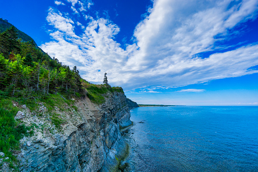 North Atlantic Ocean「Cap-Bon-Ami (translates to Good Friend Cape in English) in Forillon, one of Canada's 42 National parks and park reserves, situated near Gaspé, Eastern Québec.」:スマホ壁紙(12)