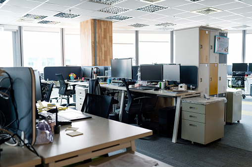 New Business「Interior of modern work place with furniture」:スマホ壁紙(8)