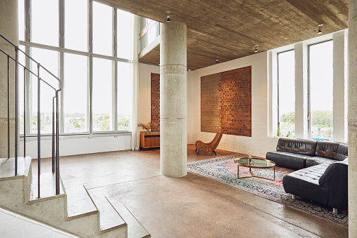 Open Plan「Interior of a spacious loft flat」:スマホ壁紙(13)