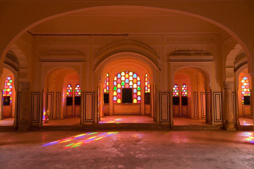 Rajasthan「Interior of Hawa Mahal or Palace of Winds」:スマホ壁紙(0)