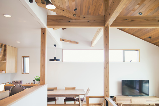 Kitchen「Interior of modern house」:スマホ壁紙(6)