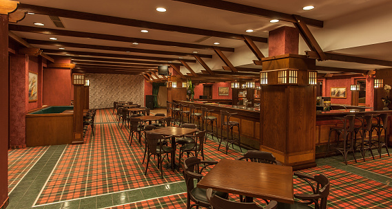 English Culture「Interior of irish a pub」:スマホ壁紙(14)