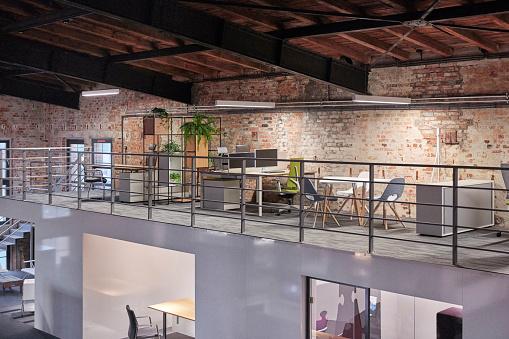 New Business「Interior of a modern industrial style loft office」:スマホ壁紙(4)