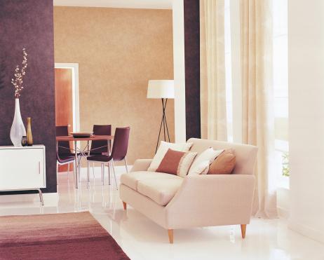 High Key「Interior of modern Lounge / Living Room」:スマホ壁紙(9)