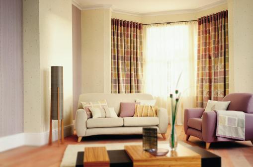 Curtain「Interior of modern Lounge / Living Room」:スマホ壁紙(4)