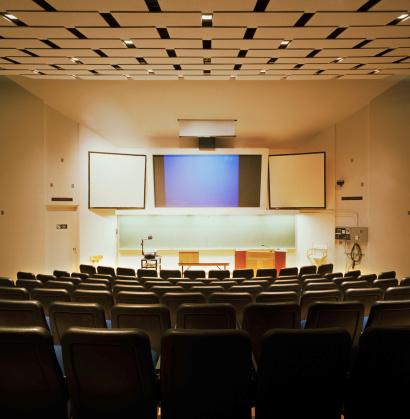 Education Building「Interior of college audio visual classroom, rear view」:スマホ壁紙(12)