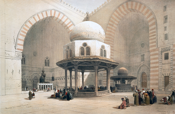 1850-1859「Interior Of The Mosque Of The Sultan Al-Ghuri Cairo Egypt 19th Century」:写真・画像(7)[壁紙.com]