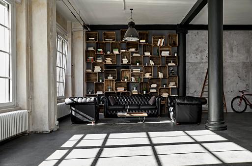 Home Showcase Interior「Interior of a loft flat」:スマホ壁紙(11)