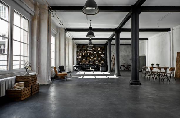 Interior of a loft flat:スマホ壁紙(壁紙.com)