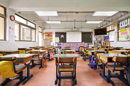 Blank「Interior of classroom in elementary school」:スマホ壁紙(10)