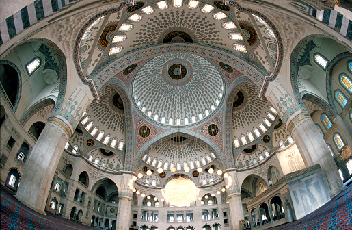 Fish-Eye Lens「Interior of Kocatepe Mosque in Ankara」:スマホ壁紙(1)