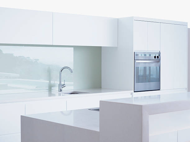 Interior of modern domestic kitchen:スマホ壁紙(壁紙.com)
