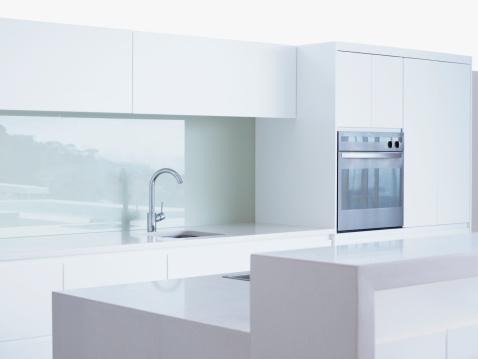 Kitchen Counter「Interior of modern domestic kitchen」:スマホ壁紙(12)