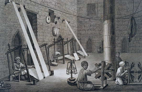 Textile Industry「Interior Of A Weavers Workshop' Egypt 1822」:写真・画像(9)[壁紙.com]