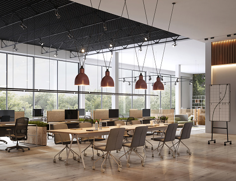 Open「Interior of open space office」:スマホ壁紙(2)