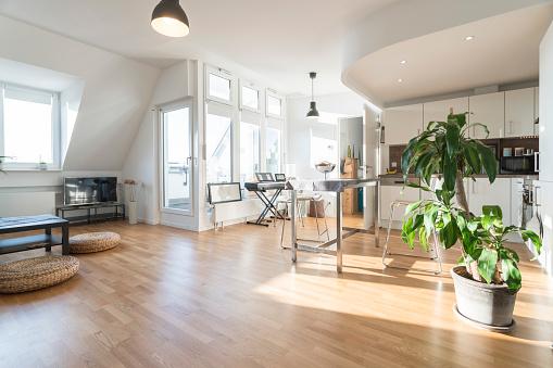 Living Room「Interior of a modern apartment」:スマホ壁紙(6)