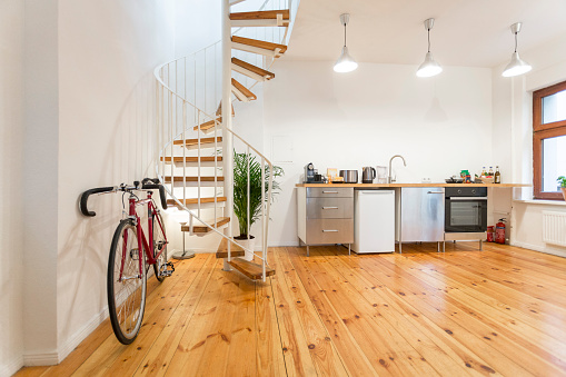 Individuality「Interior of a modern apartment with bike」:スマホ壁紙(18)