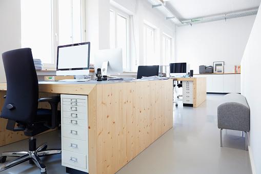 Open Plan「Interior of bright modern office」:スマホ壁紙(1)