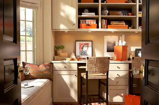 Home Office「Interior of a Contemporary Home Office」:スマホ壁紙(9)