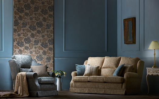 Floral Pattern「Interior of a contemporary living room」:スマホ壁紙(18)
