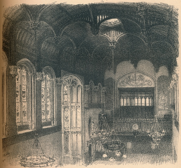 Ceiling「'Interior of Crosby Hall', 1902」:写真・画像(2)[壁紙.com]