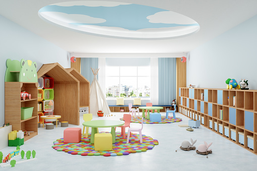 Childhood「Interior Of A Modern Kindergarten Classroom」:スマホ壁紙(17)