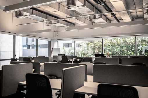 Small Office「Interior of modern office empty」:スマホ壁紙(3)