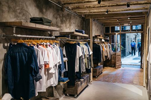 Cool「Interior of a modern menswear shop」:スマホ壁紙(14)