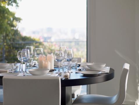 Place Setting「Interior of modern dining room」:スマホ壁紙(11)
