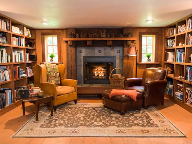 Interior of living room and fireplace:スマホ壁紙(壁紙.com)