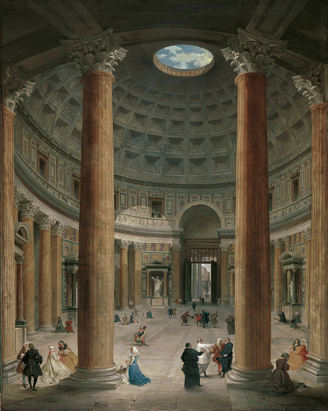 Painting - Activity「Interior Of The Pantheon Rome 1735」:写真・画像(10)[壁紙.com]