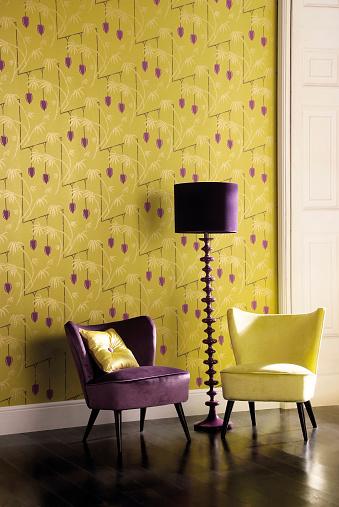 紫「Interior of chair in room」:スマホ壁紙(19)