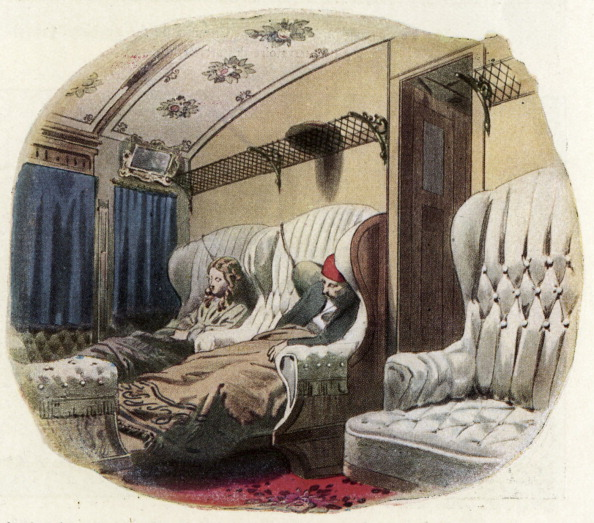 Land Vehicle「Royal Russian railway, 1864: 1st class compartment by night」:写真・画像(13)[壁紙.com]