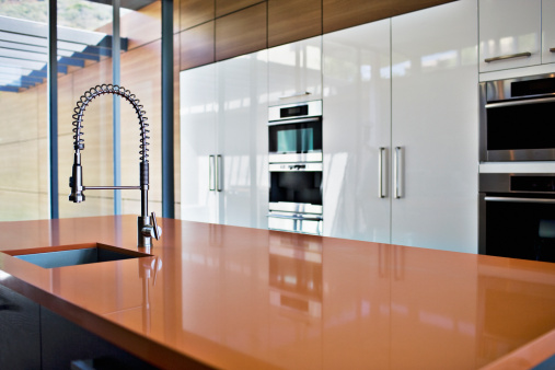 Domestic Kitchen「Interior of modern kitchen with spray nozzle」:スマホ壁紙(10)