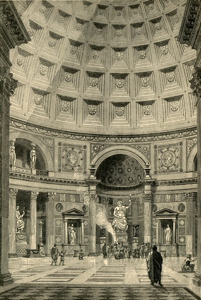 Architecture「Interior Of The Pantheon At Rome Restored」:写真・画像(16)[壁紙.com]