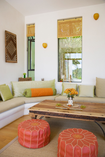 Stool「Interior of modern living room」:スマホ壁紙(9)
