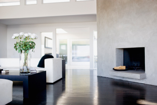 California「Interior of modern living room」:スマホ壁紙(1)