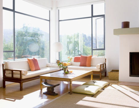 Cultures「Interior of modern living room」:スマホ壁紙(11)