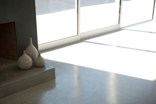 Concrete「Interior of modern living room」:スマホ壁紙(4)