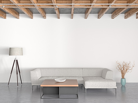 Floor Lamp「Interior of modern living room」:スマホ壁紙(16)