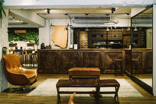 Stool「Interior of shoe shop with furniture」:スマホ壁紙(15)